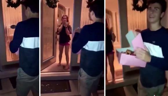 Un joven quiso sorprender en su casa a la chica que le gustaba pero cometió un pequeño error. (Foto: theCHIVE en Facebook)