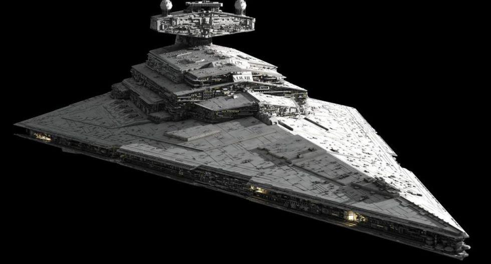 Destructor Estelar Imperial. La gigantesca nave del Imperio en forma de cuña, mide 1.600 metros y su sola presencia puede hacer temblar a cualquiera.