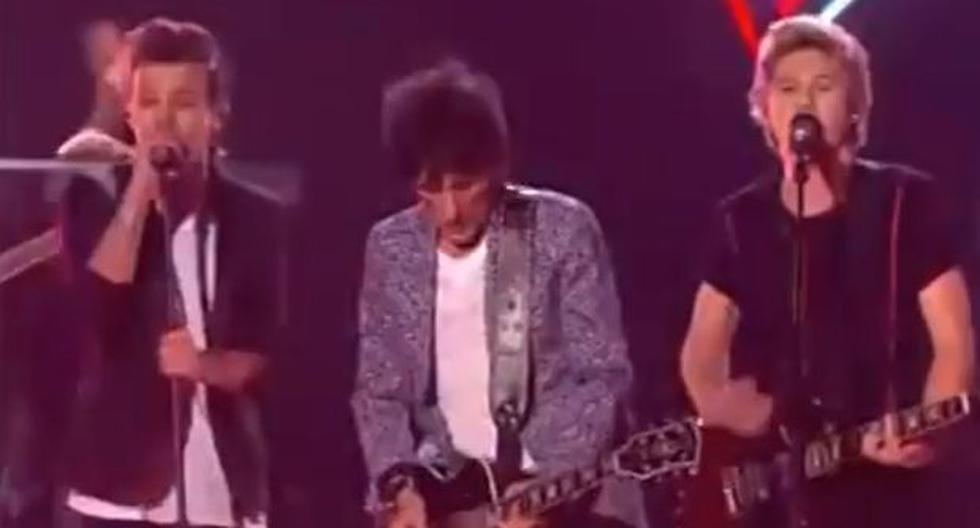 """One Direction tocó con Ron Wood en """"The X Factor"""" - 1"""