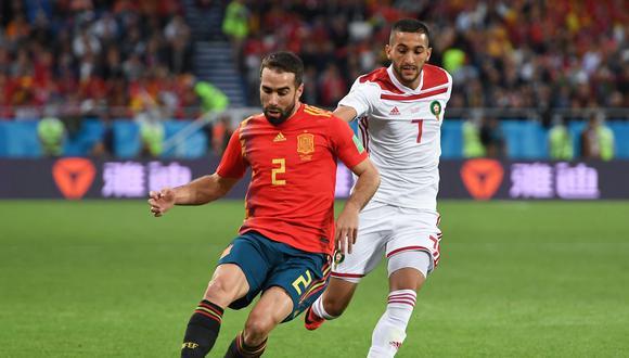 España se mide ante Marruecos HOY (1:00 pm. EN DIRECTO EN VIVO por DirecTV / Telecinco)en la última fecha del Grupo B del Mundial Rusia 2018. Los europeos son favoritos para ganar esta serie. (Foto: AFP)