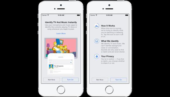 Facebook lanza función para identificar canciones