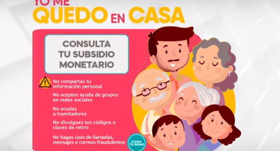 El Gobierno peruano ya está pagando la segunda parte del bono Yo me quedo en casa (Foto: Midis)