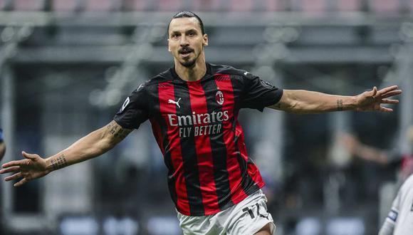 El mensaje de Zlatan Ibrahimovic después del doblete en el derbi de Milán. (Foto: AP)