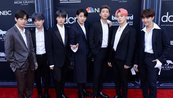 BTS se hizo presente en los premios Grammy 2020. Foto: AFP.