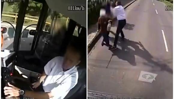 El chofer Károly Zsolt Kis conducía un bus de transporte público en la ciudad de Miskolc, en Hungría, cuando vio cómo en la calle estaban atacando a una anciana. (Foto: Twitter/El Queretano Digital)