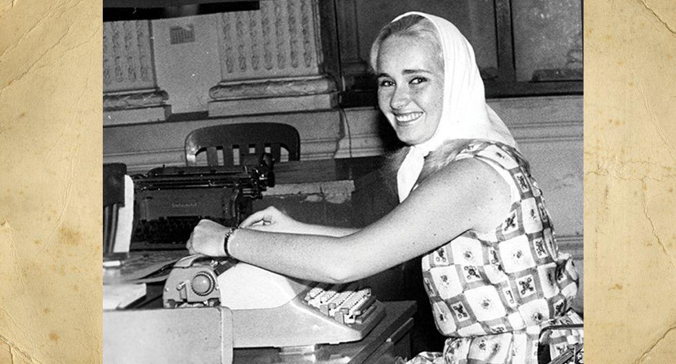 Lucero Miró Quesada en la redacción de El Comercio en 1965. Tenía 19 años y escribía en la página de Sociales. Hoy tiene 74 años, dos hijos periodistas, dos nietos y sigue en El Comercio, hoy a cargo de la página diplomática.