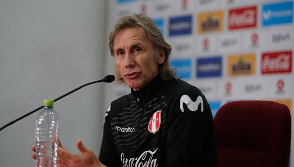 El técnico de la Selección Peruana, Ricardo Gareca, dio a conocer la lista de convocados para las Eliminatorias Qatar 2022   Foto: Francisco Neyra/GEC