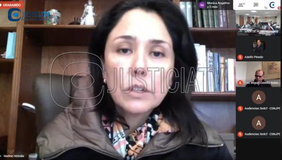 Sala dejó al voto apelación de la fiscalía para que se dicte prisión contra Nadine Heredia por el caso Gasoducto del Sur. (Imagen: JusticiaTV)