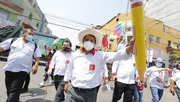 Pedro Castillo, candidato a la presidencia por Perú Libre. (Foto: GEC)