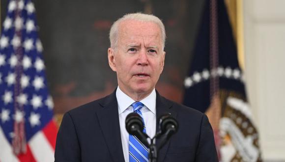 El presidente de Estados Unidos, Joe Biden, habla sobre la economía durante la pandemia de Covid-19 en el Comedor Estatal de la Casa Blanca en Washington, DC. (Foto: SAUL LOEB / AFP).