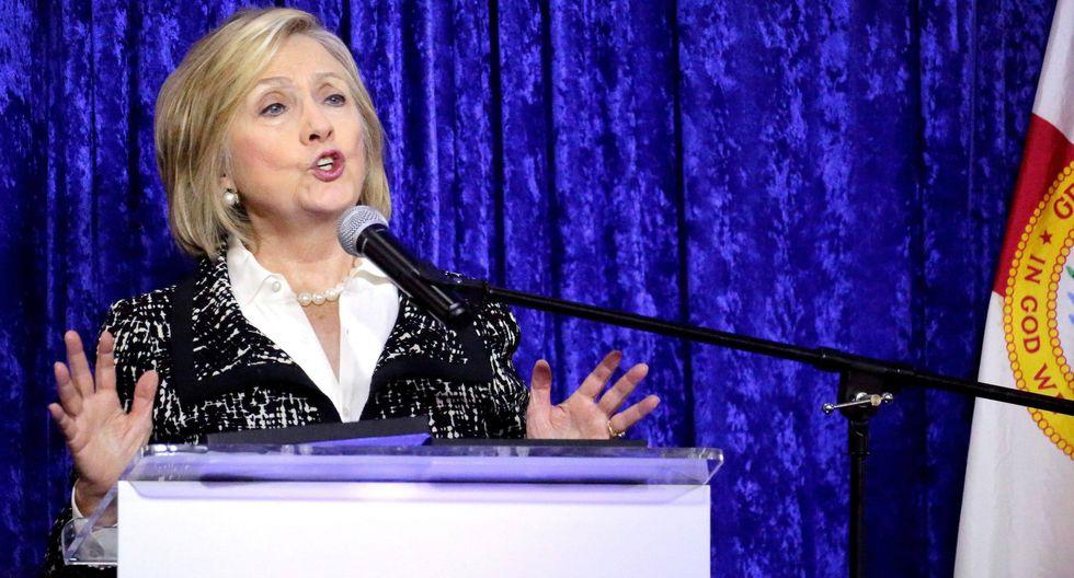 """La excandidata presidencial demócrata Hillary Clinton instó hoy a los ciudadanos a salir """"a decir basta"""" contra """"el radicalismo, la intolerancia y la corrupción"""".(Fuente: EFE)"""