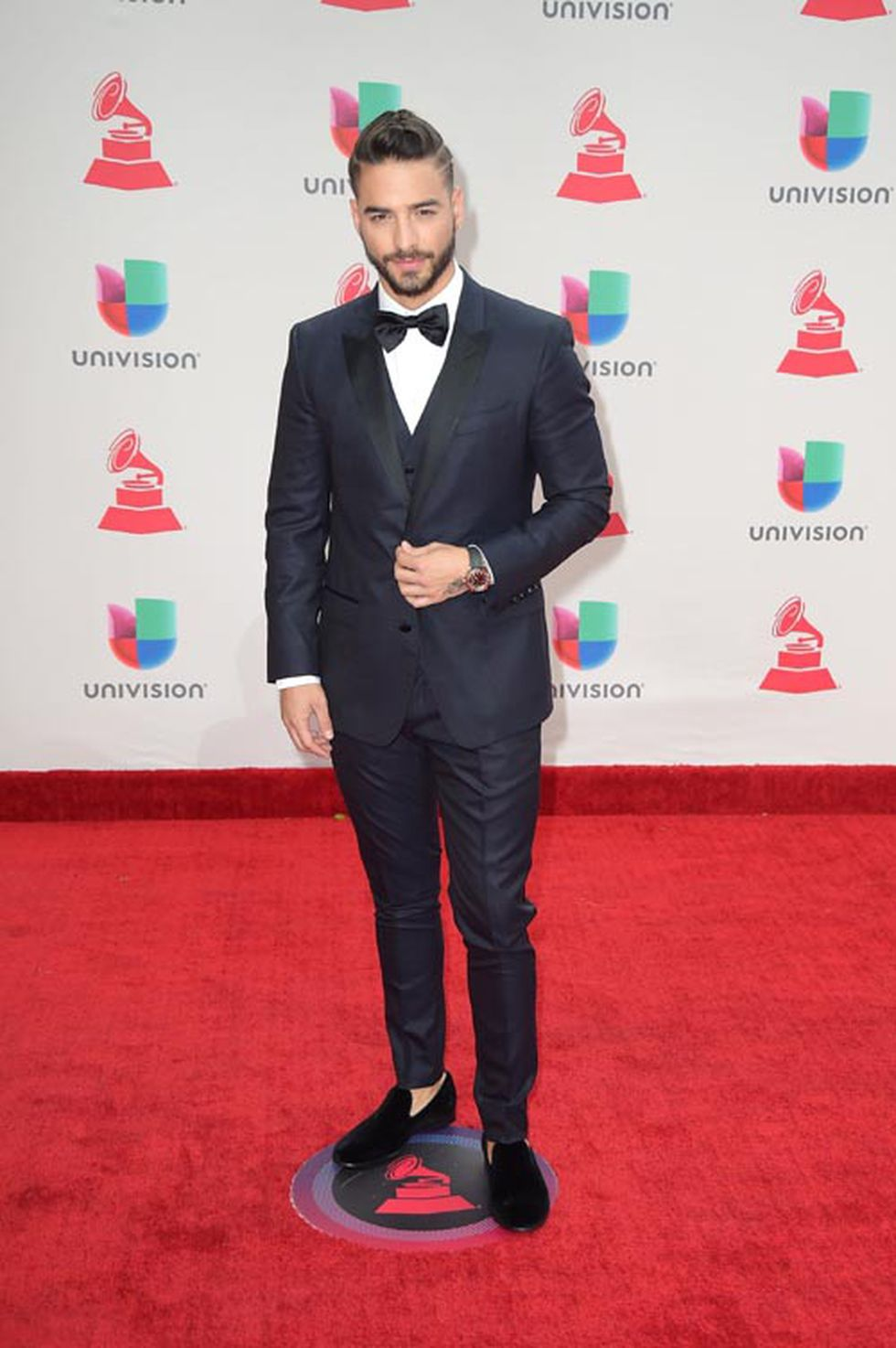 Maluma en los Latin Grammy. (Foto: Agencias)