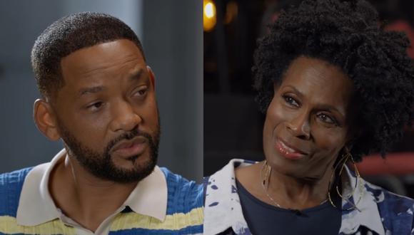 """Will Smith y Janet Hubert en uno de los momentos más incómodos de ver en el episodio de reencuentro de """"El príncipe del rap"""". Foto: HBO Max."""