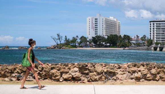 Puerto Rico reabrió varias playas y campos de golf desde la tercera semana de mayo. (Foto: Gabriella N. Baez/Bloomberg)