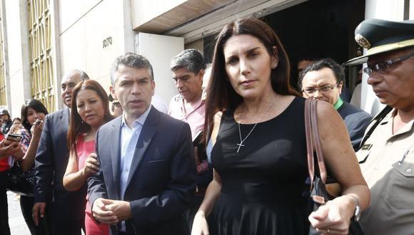 Carolina Lizárraga fue parte de la fórmula presidencial –finalmente no inscrita– de Julio Guzmán en las elecciones del 2016, con el partido Todos por el Perú. Hoy compiten en las internas del Partido Morado. (Foto: Anthony Niño de Guzmán / GEC)