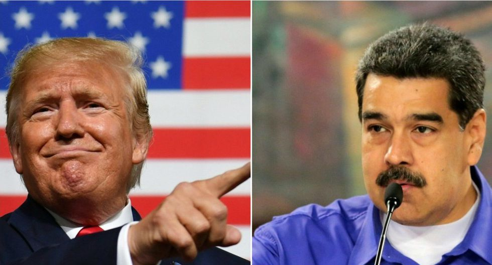 Bolton argumentó que Donald Trump (izquierda) ha aparcado hasta ahora su idea de reunirse con Nicolás Maduro (derecha) debido en parte a cálculos electorales en el estado clave de Florida. (AFP/Venezuelan Presidency/Nicholas Kamm and HO).