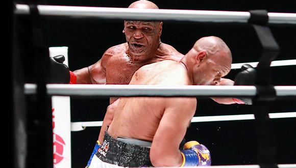 Mike Tyson se lució en su vuelta a los rings de boxeo. (Foto: Twitter @BleacherReport)