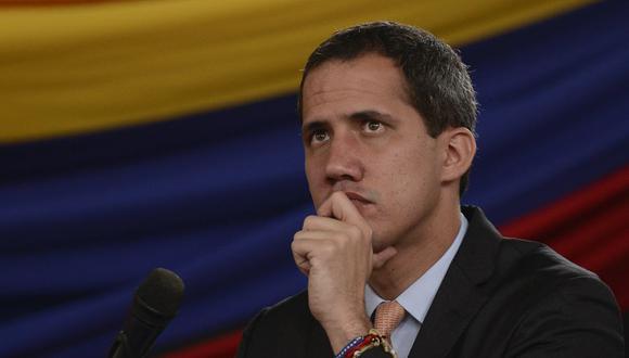 Juan Guaidó, el líder de la oposición venezolana y presidente interino reconocido por más de 50 países, planteó un boicot electoral en las recientes elecciones legislativas. Solo le quedarían unas semanas en el cargo. (AP Photo/Matias Delacroix)