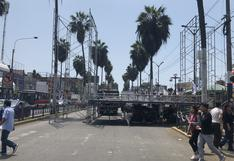 Chorrillos: reportan gran congestión y malestar por mitin de campaña | FOTOS