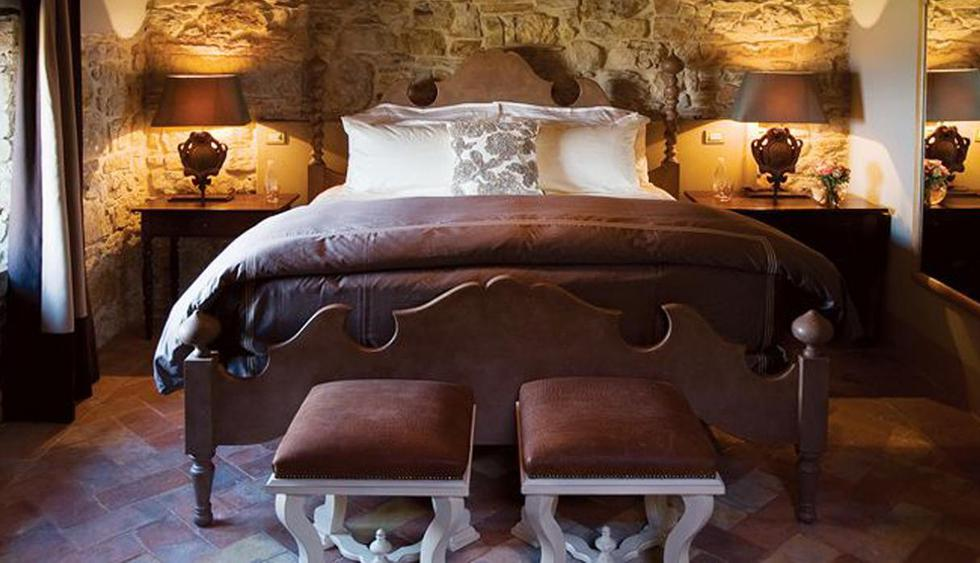 Hotel Castello di Casole, Italia. Clásicas y de lo más elegantes. Así son las hermosas habitaciones de este hotel anclado en un paraje único. (Foto: castellodicasole.com)