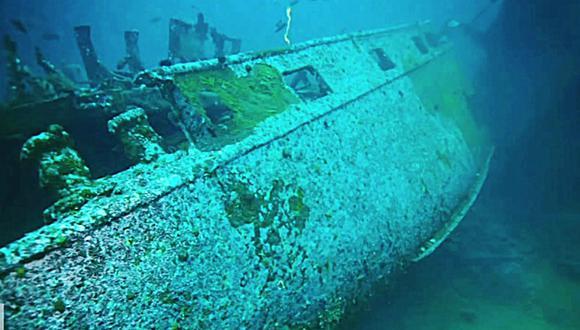 El Karlsruhe fue hundido por un submarino británico en 1940 y sus restos no se habían visto hasta ahora. (Foto: Known Unknowns / YouTube)