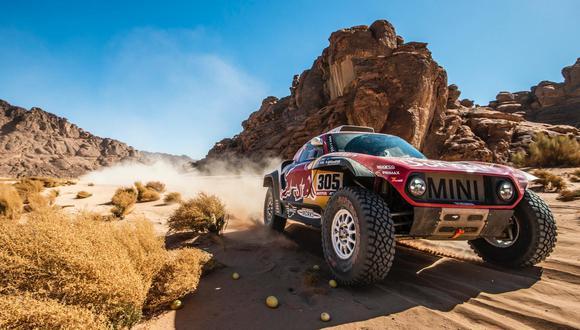 Carlos Sainz, ganador de la tercera etapa del Dakar 2020. (Foto: AFP)