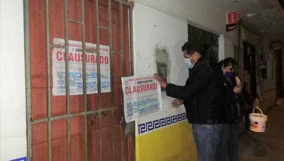 Tacna: tras operativo hallan a paciente con coronavirus en una cantina (Foto: Municipalidad de Tacna).