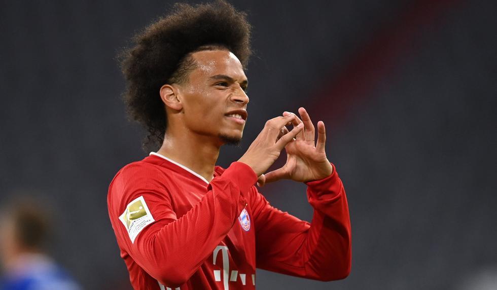 Leroy Sané anotó gol y dio dos asistencias en su primer partido oficial con la camiseta del Bayern Múnich | Foto: AFP