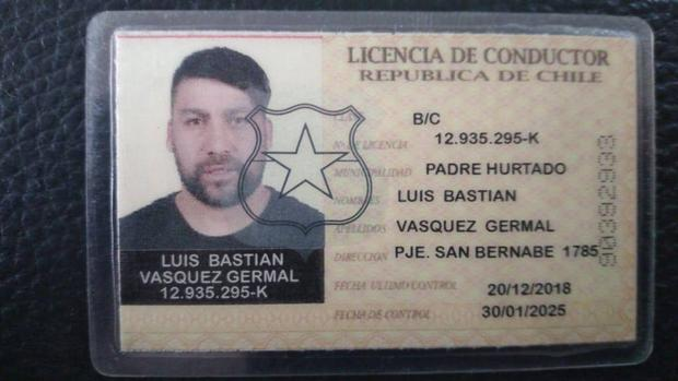 Louis Nice's driver's license with the wrong name.  That was the case in Bolivia.