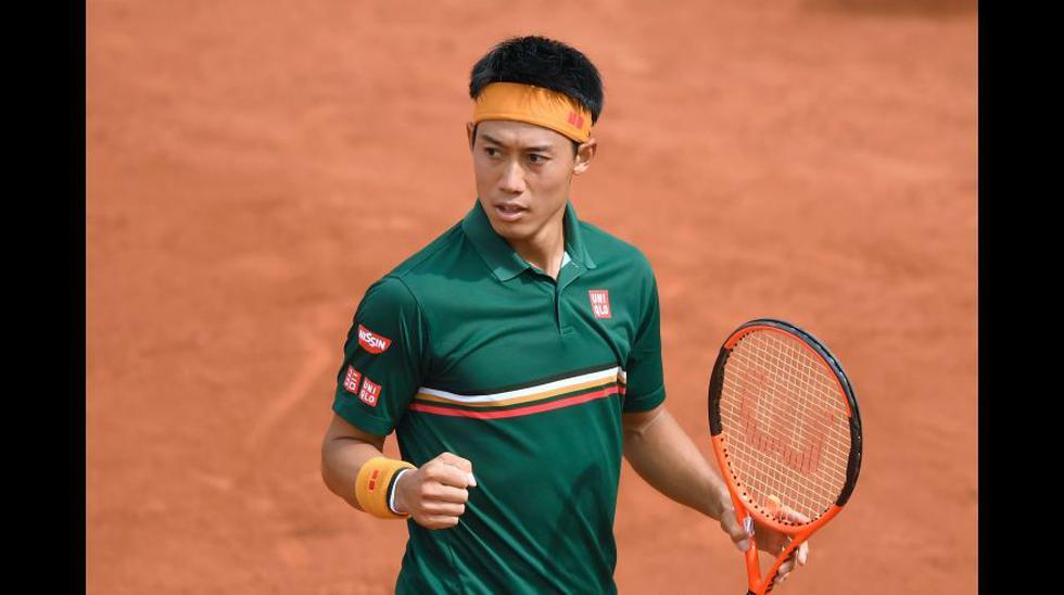 El tenista japonés Kei Nishikori se ubica en la posición 20 del ránking de ESPN. (Foto: Agencias).