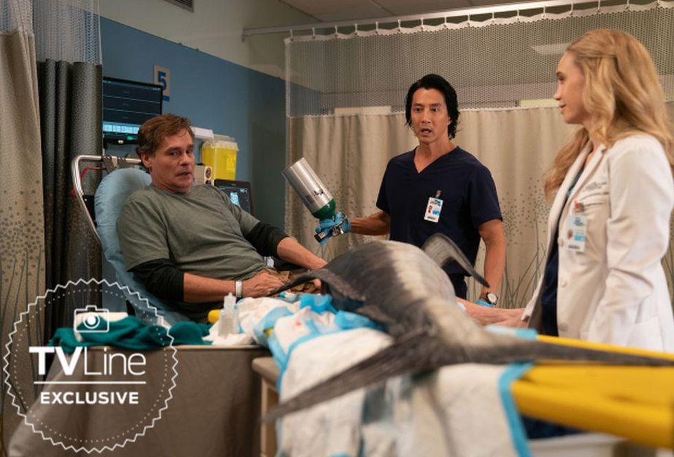 Robert Sean Leonard tiene ¿un tiburón pegado a su pierna? (Foto: The Good Doctor / ABC)