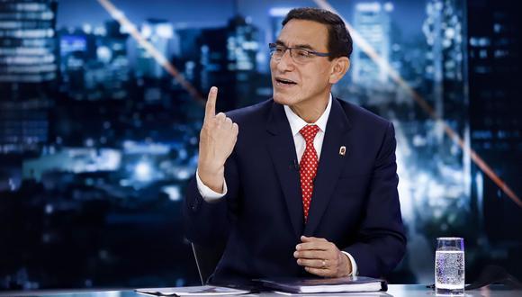 El presidente Vizcarra ofreció su segunda entrevista en lo que va del estado de emergencia. La anterior fue a TV Perú el 29 de julio.  (Foto: Presidencia de la República)