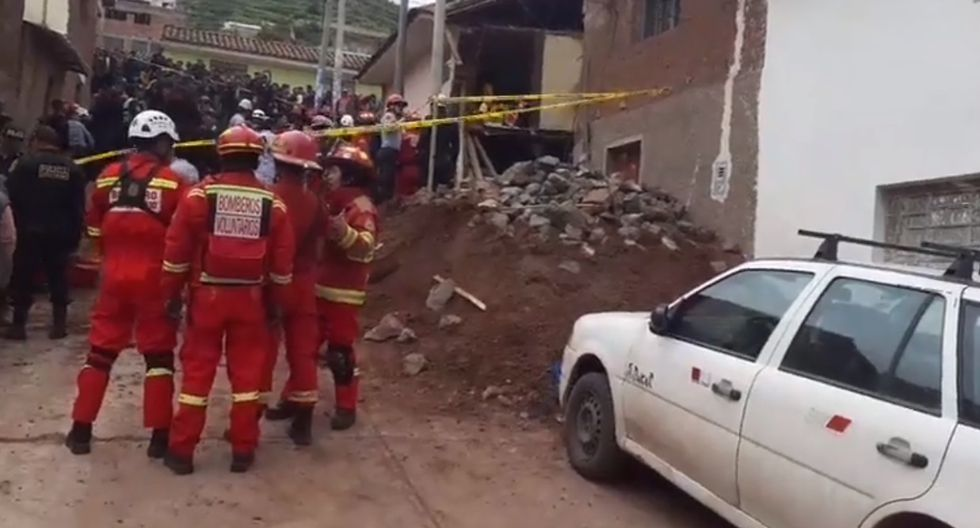 Casa se derrumbó. (Foto: Captura de video / Facebook)