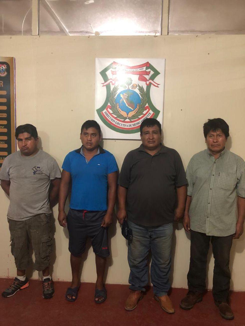 """La Policía detuvo a tres bolivianos y un peruano presuntos integrantes de la organización criminal """"Los Petroleros de La Pampa"""" (Foto: PNP)"""