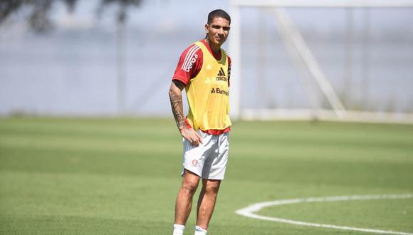 Guerrero sumó un nuevo día de trabajo en Porto Alegre. (Foto: SC Internacional)