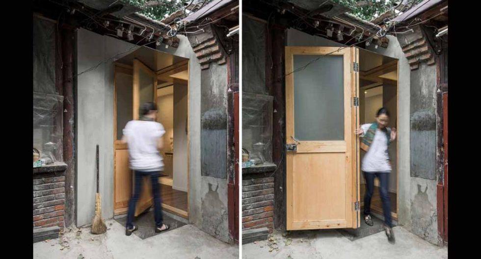 El espacio se dividió en una barra de café de 19 m2 y una habitación de 15 m2, los cuales se unen por un patio compartido. (Foto:  Zhang + Yu Cheng / office-aio.com)