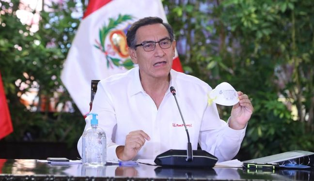 Presidente Martín Vizcarra ofrecerá pronunciamiento en el día 23 del estado de emergencia para frenar avance de coronavirus.(Foto: Presidencia)