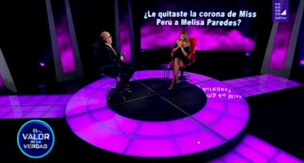 Jessica Newton reveló que ella no le quitó la corona del Miss Perú a Melissa Paredes. (Foto: Captura de video)