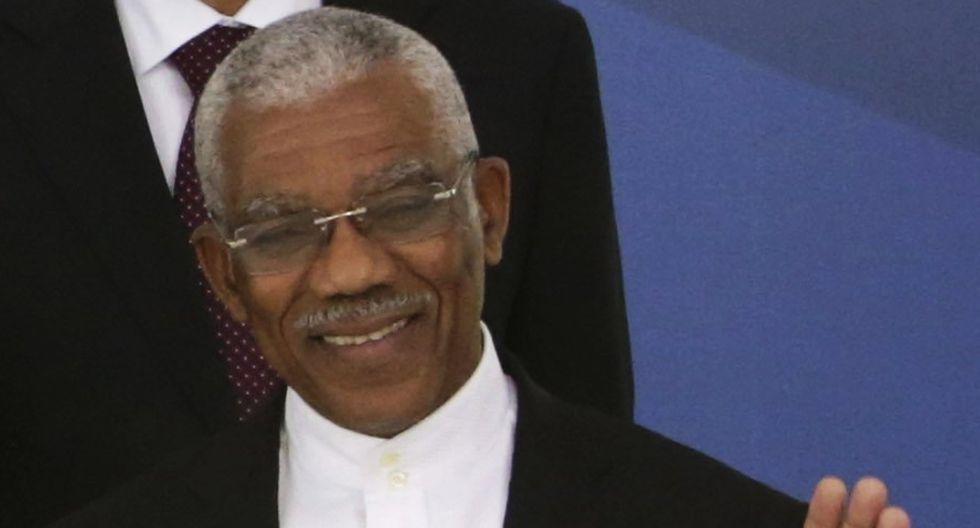 Guyana: 57,3 millones de dólares. David Granger (Foto: AP)