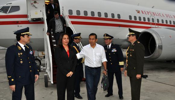 Humala enrumbó a Panamá y por la noche viajará a Colombia