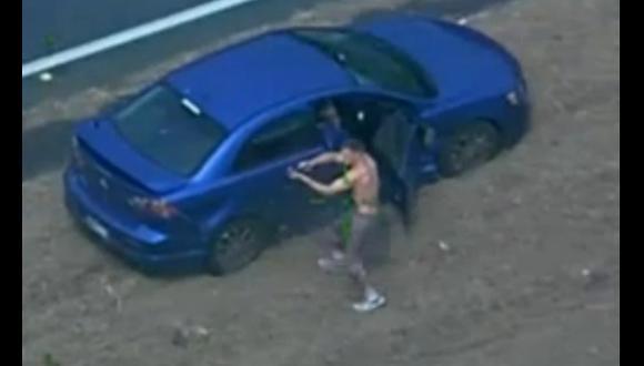 Escalofriante persecución a 2 delincuentes en Australia [VIDEO]