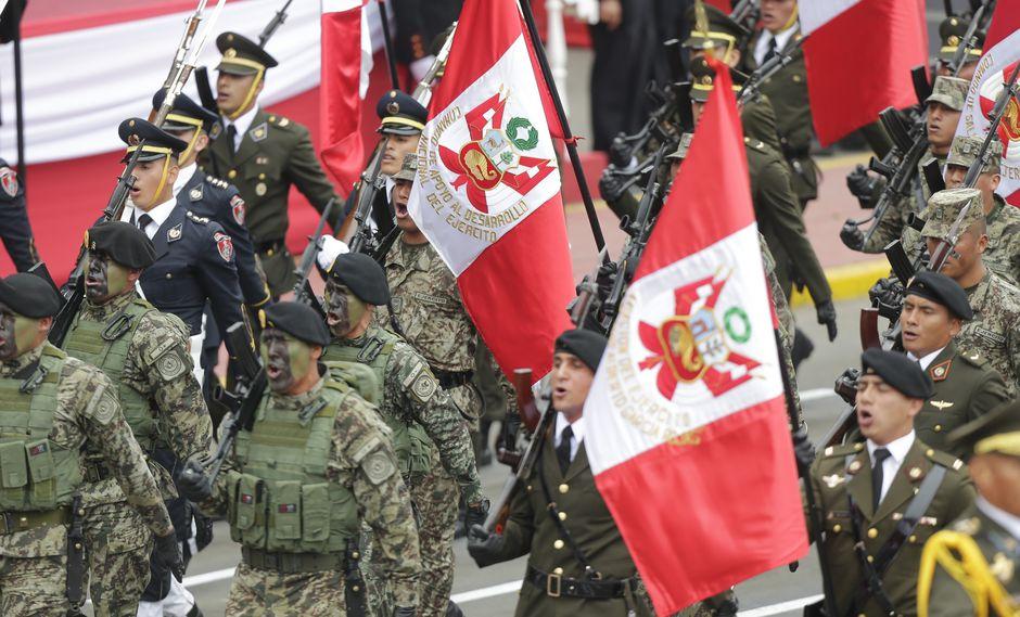 La Gran Parada Militar se realizará el 29 de julio en marco de las actividades oficiales por Fiestas Patrias. (Alonso Chero)
