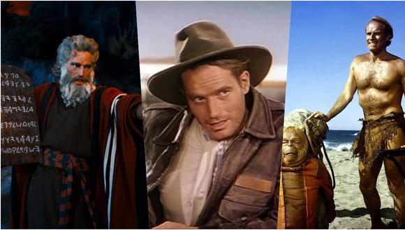 Películas de Charlton Heston. (Foto: Archivo)