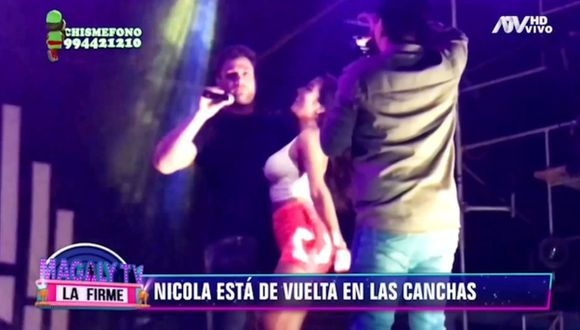 Nicola Porcella fue grabado junto a bailarina con la que dio un show en discoteca. (Imagen: ATV)