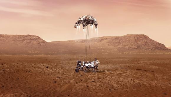 La misión incluye el vehículo más grande jamás enviado al Planeta Rojo. (Foto: Handout / NASA / AFP)
