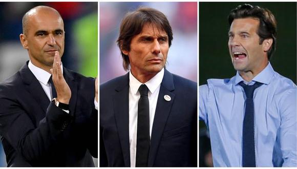 Real Madrid aún no consigue reemplazo para Julen Lopetegui: se frena a Antonio Conte y aparecen Santiago Solari y Roberto Martínez. (Foto: AFP)