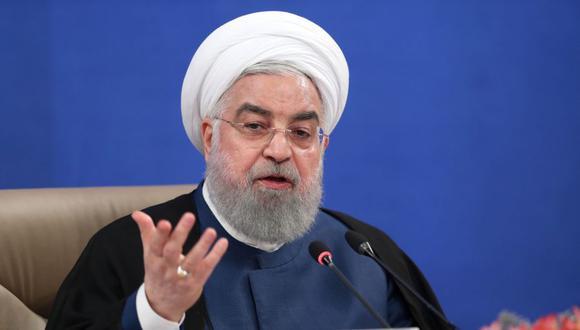 """El presidente de Irán, Hassan Rouhani, celebró """"la humillación"""" de Estados Unidos en el Consejo de Seguridad de la ONU. (AFP)."""
