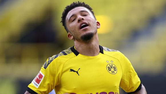 Jadon Sancho tiene contrato con Borussia Dortmund hasta mediados del 2023. (Foto: AFP)