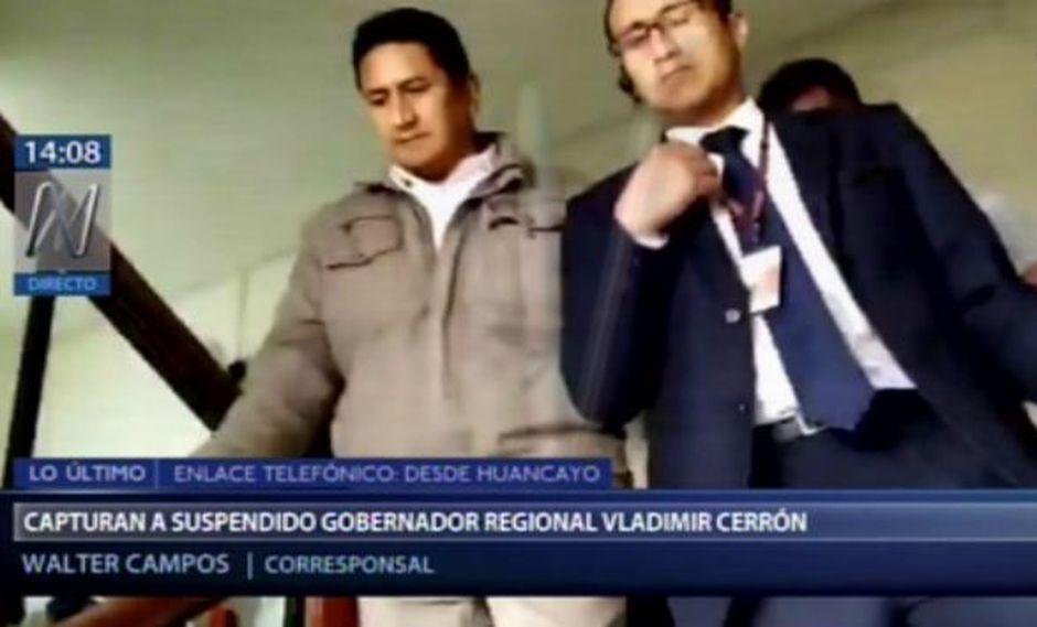 El pasado 5 de agosto, Cerrón permanecía en la clandestinidad, tras ser sentenciado a cuatro años y ocho meses de cárcel por el delito en contra de la administración pública. (Foto: Captura Canal N)