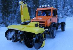 Así es como funciona un soplador de nieve hecho con Lego[VIDEO]